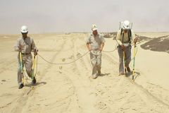 DCVG and CIPS survey in Saudi Desert