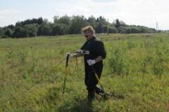 CIPS surveyor in Russian field