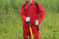 Cathodic protection surveyor in field