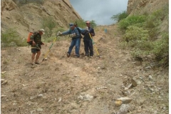 Peru survey with water pack