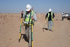 DCVG survey along the pipeline in Yemen
